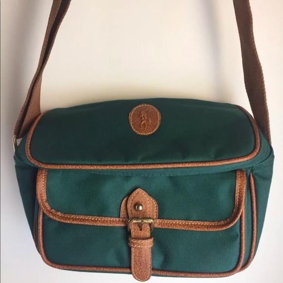 381c6bb9c1 Vintage Polo Ralph Lauren Messenger Green Bag A13.  M 5a70bbd29d20f02808b96840